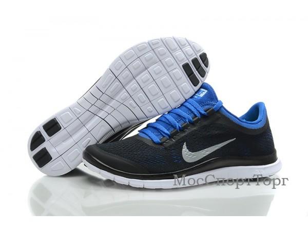 Nike Free 3.0 V5 чёр/син. - дисконт цена
