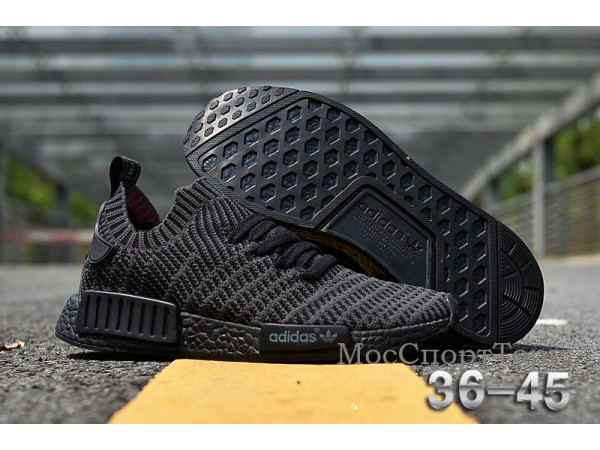 Adidas NMD R1 Primeknit чёр  - дисконт цена