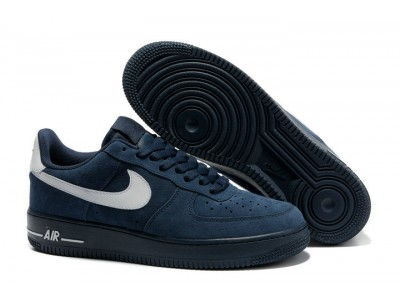 Nike Air Force low нубук син.