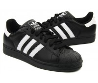 Adidas Originals Superstar кожа чёр/бел.