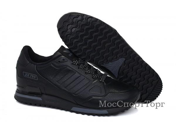 Adidas ZX 750 кожа чёр. - дисконт цена