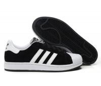 Adidas Originals Superstar замша чёр/бел.