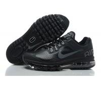 Nike Air Max 2013 кожа чёр.