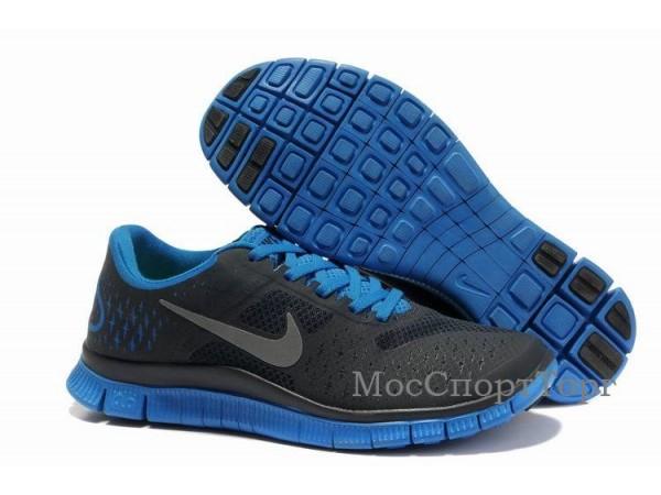 Nike Free 4.0 V2 чёр/син. - дисконт цена