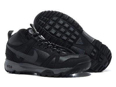 Nike ACG Rongbuk кожа/мех чёр.
