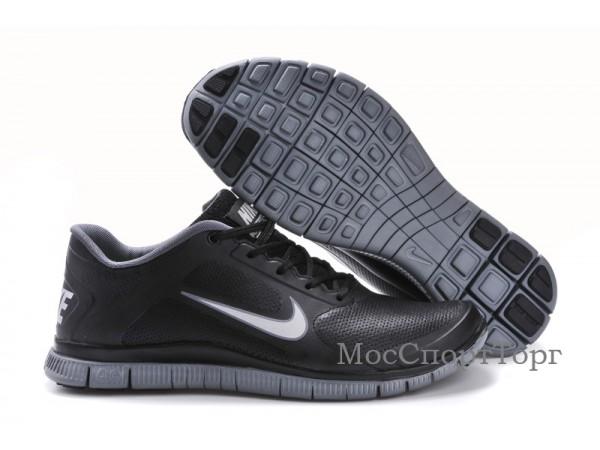 Nike Free 4.0 V3 кожа чёр. - дисконт цена