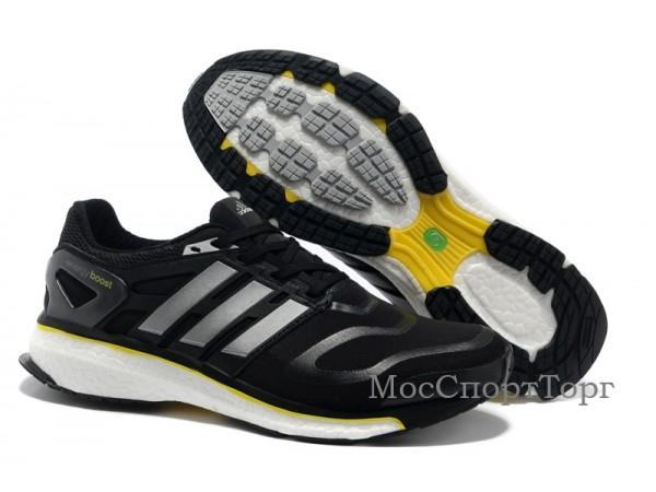 Adidas Energy Boost чёр/жёлт  - дисконт цена
