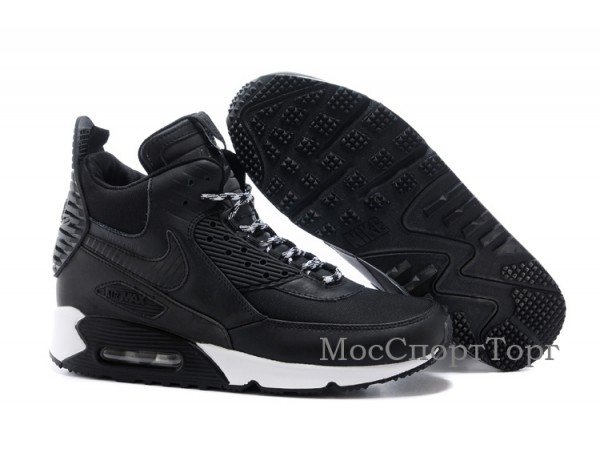Nike Air Max 90 winter чёр. - дисконт цена