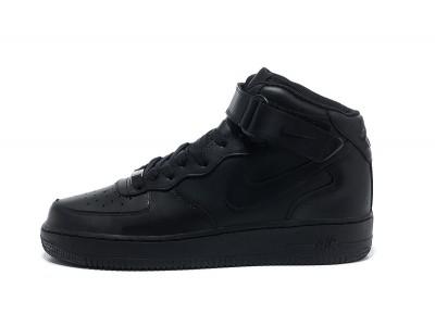 Nike Air Force Mid кожа чёр.