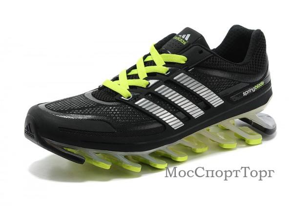 Adidas Springblade чёр/салат.  - дисконт цена