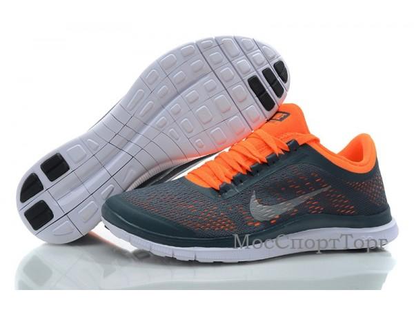 Nike Free 3.0 V5 сер/оранж. - дисконт цена
