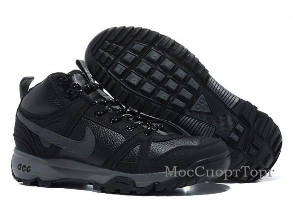 Nike ACG Rongbuk кожа/мех чёр. - дисконт цена