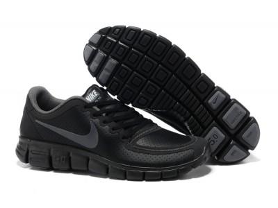 Nike Free 5.0 V4 кожа чёр.