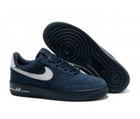 Nike Air Force low нубук син.